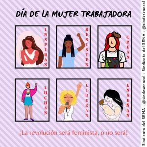 Feliz Día Internacional De La Mujer Servicio De Regalo Con Flores Con Fondo Rosa Y Blanco Post Para Instagram (2)
